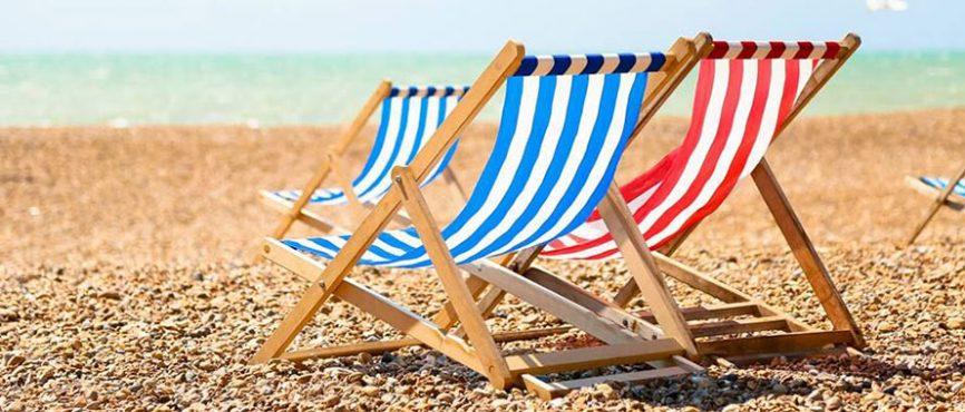Deck chairs beach