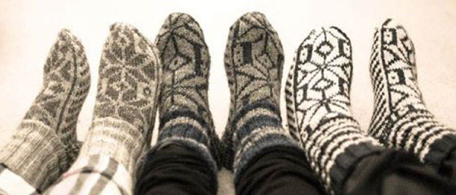 Cosy feet in socks- decluttering services South East London as you relax