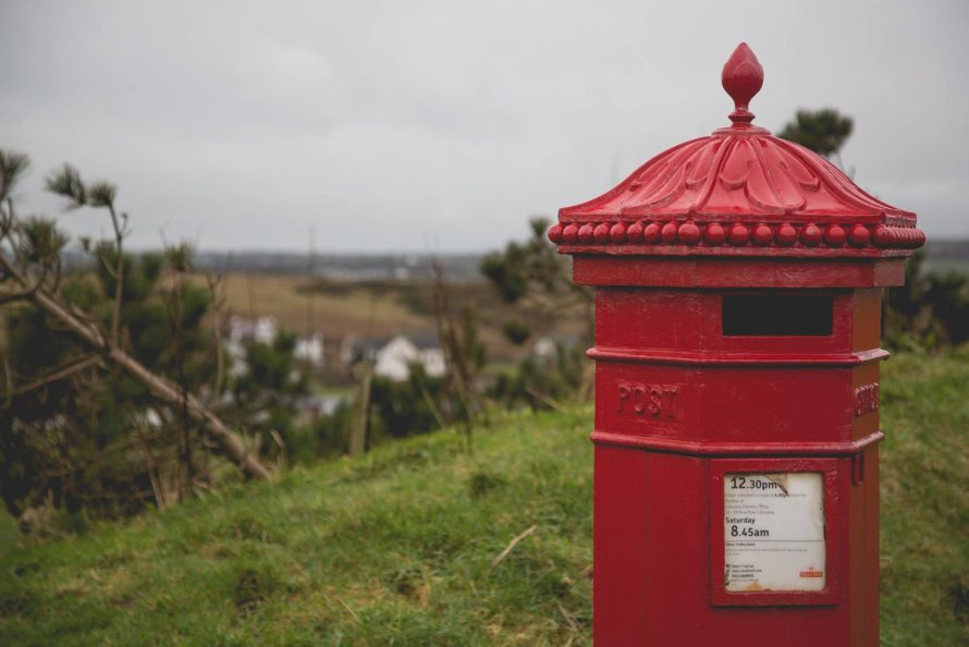 Sentimental image of vintage postbox